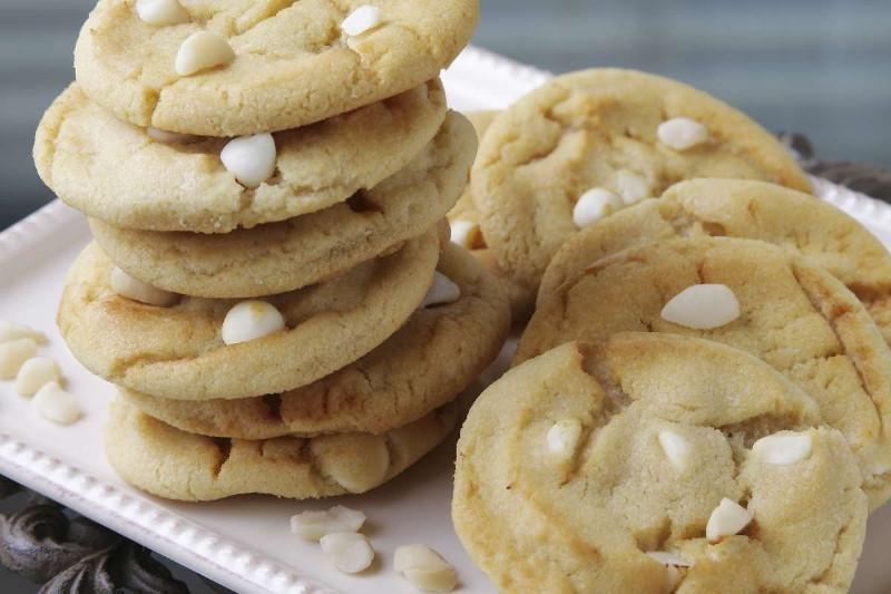 White Chocolate Chip Macadamia Nut Cookies  Cake Batter Cookie Recipe White Chocolate and Macadamia