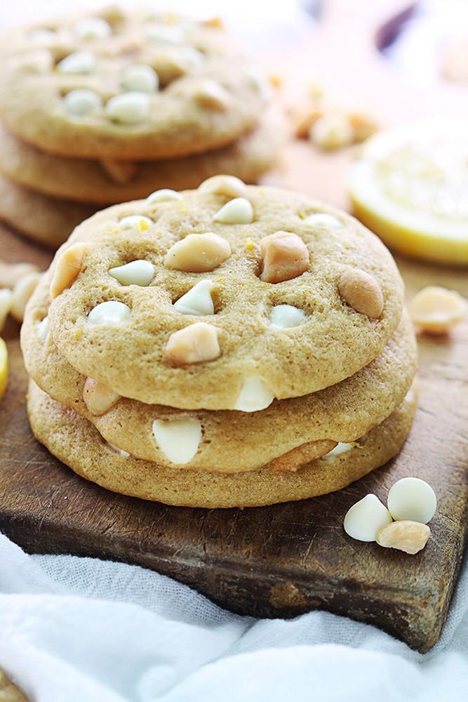 White Chocolate Chip Macadamia Nut Cookies  Lemon White Chocolate Chip Macadamia Nut Cookies