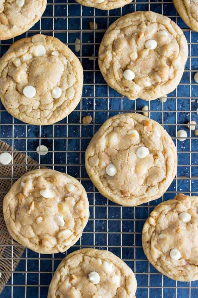 White Chocolate Chip Macadamia Nut Cookies  White Chocolate Chip Macadamia Nut Cookies Sugar Spun Run