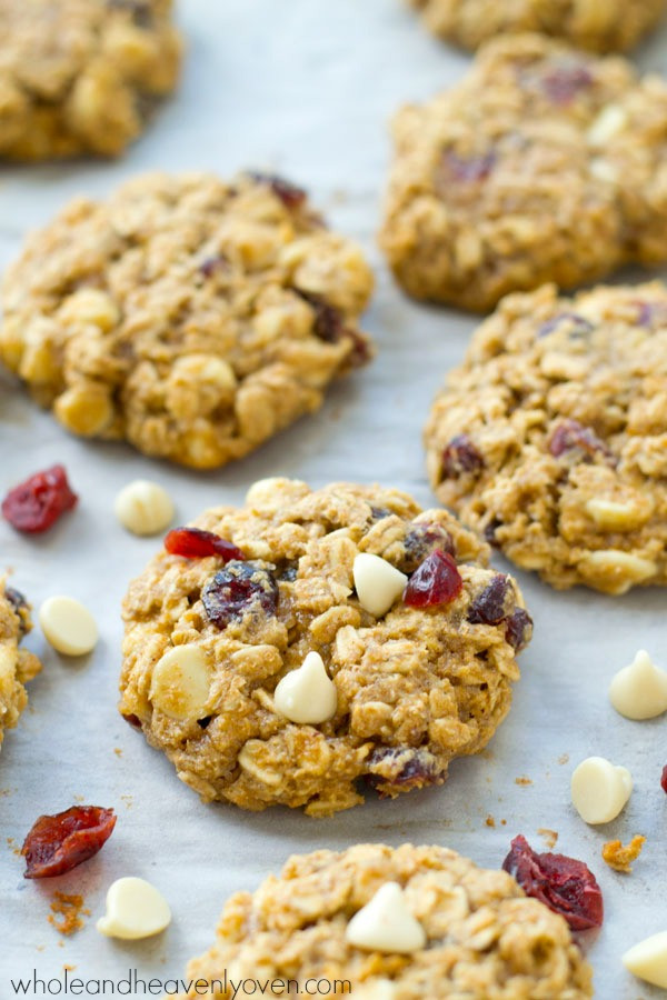 White Chocolate Cranberry Oatmeal Cookies  Cranberry White Chocolate Oatmeal Cookies