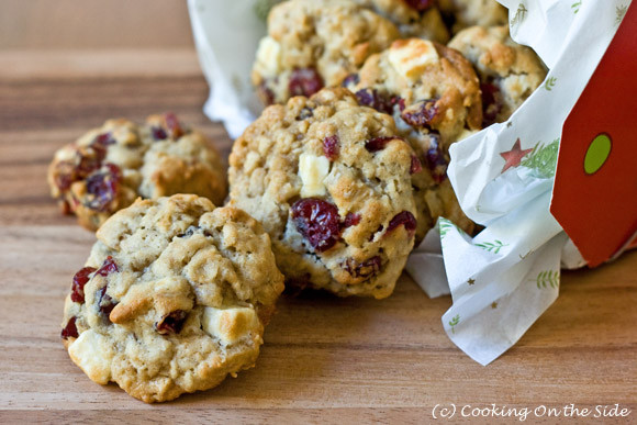 White Chocolate Cranberry Oatmeal Cookies  Recipe Oatmeal Cranberry White Chocolate Chunk Cookies
