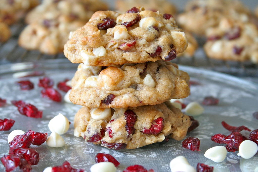 White Chocolate Cranberry Oatmeal Cookies  Oatmeal Cranberry White Chocolate Macadamia Chip Cookies