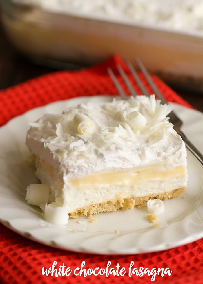 White Chocolate Desserts  White Chocolate Lasagna