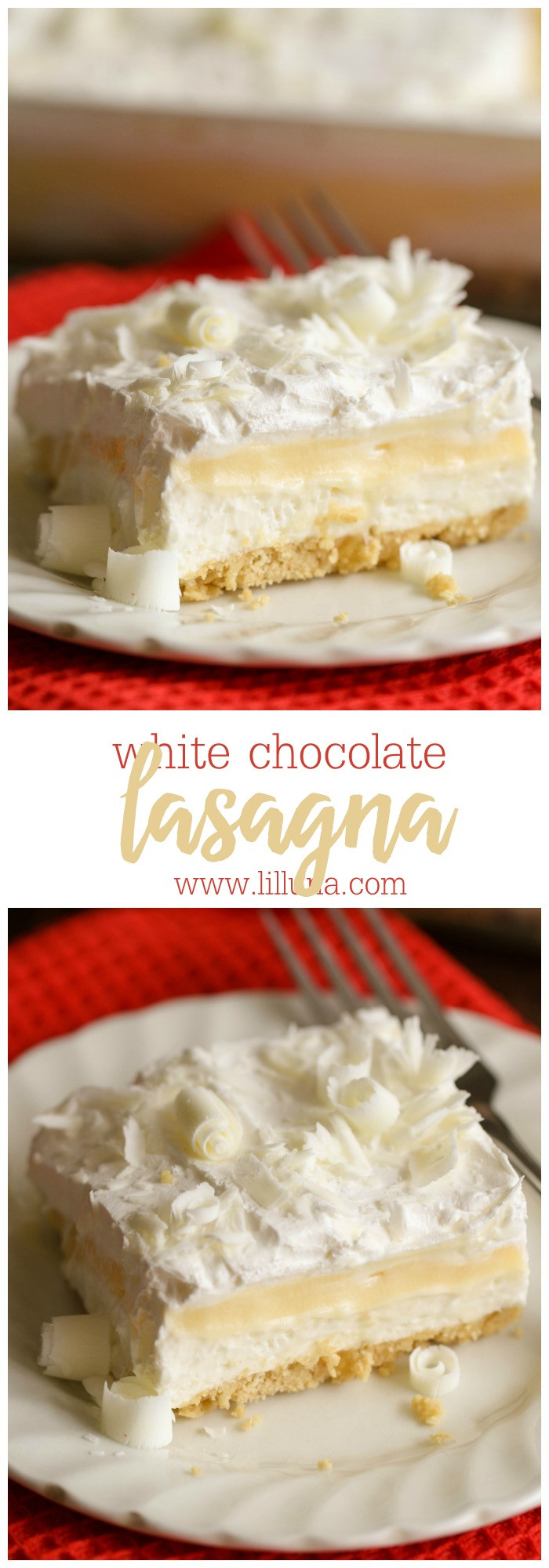 White Chocolate Desserts  White Chocolate Lasagna recipe