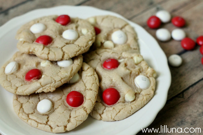 White Chocolate Peppermint Cookies  White Chocolate Peppermint M&M Cookies