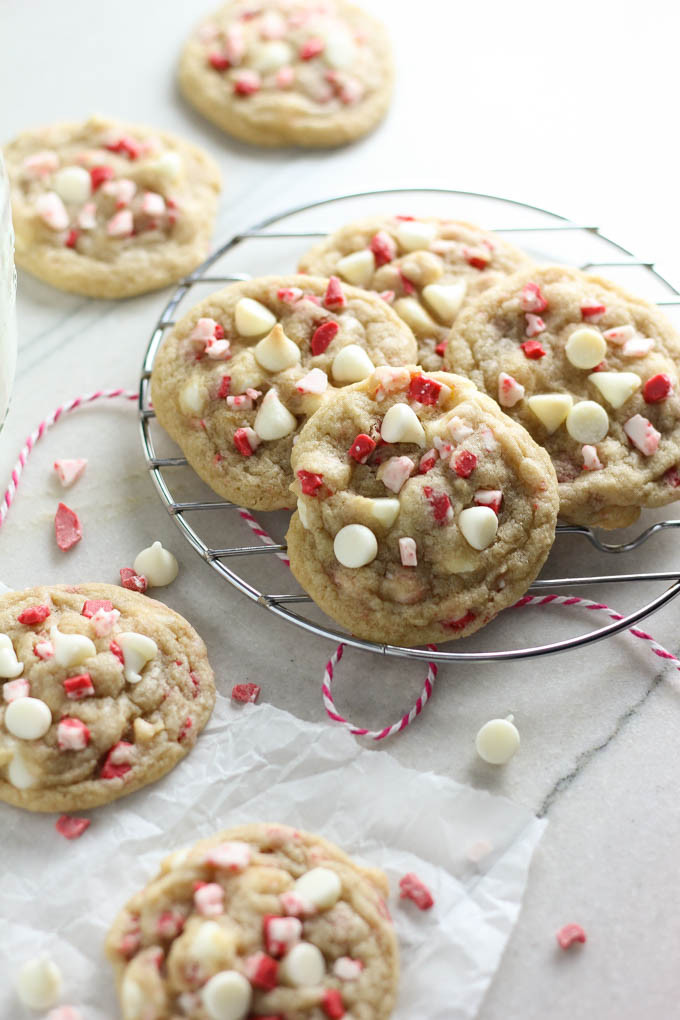 White Chocolate Peppermint Cookies  White Chocolate Peppermint Crunch Cookies