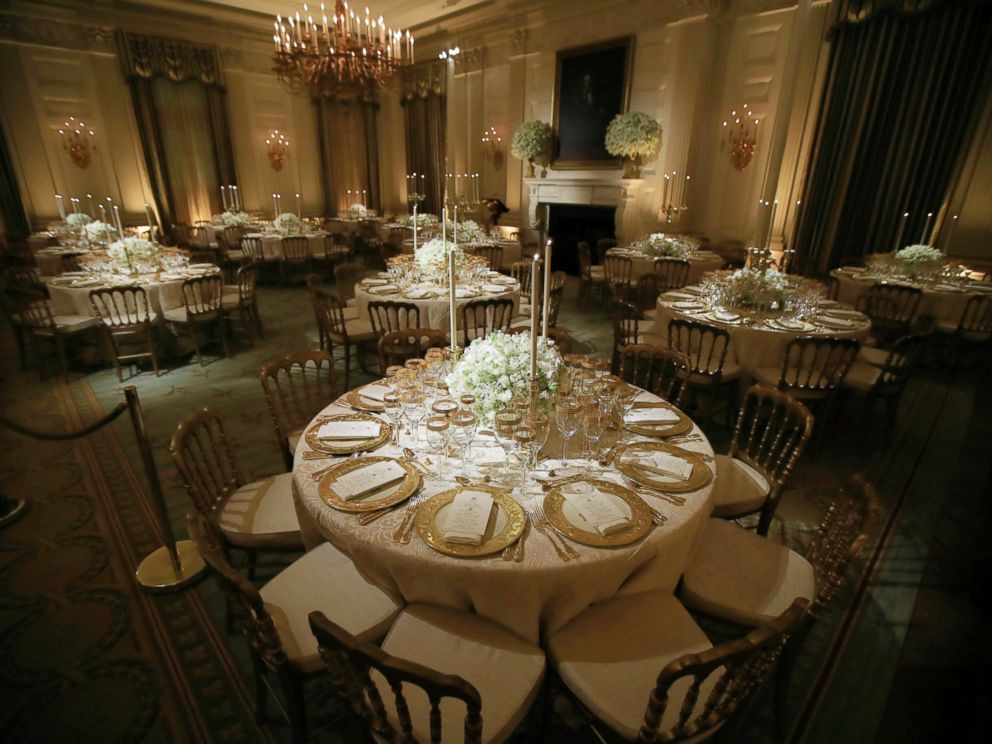 White House State Dinner  Inside the first Trump state dinner ABC News