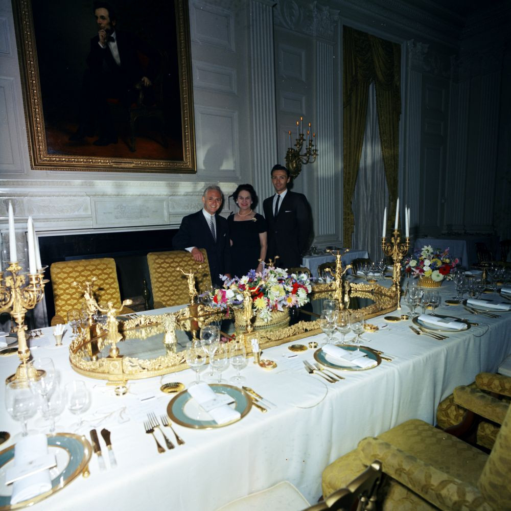 White House State Dinner  KN C White House Entertainments Staff Set up For