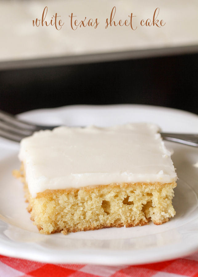 White Sheet Cake  White Texas Sheet Cake Recipe