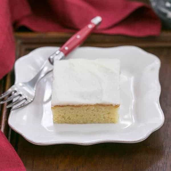 White Sheet Cake  White Sheet Cake SundaySupper That Skinny Chick Can Bake