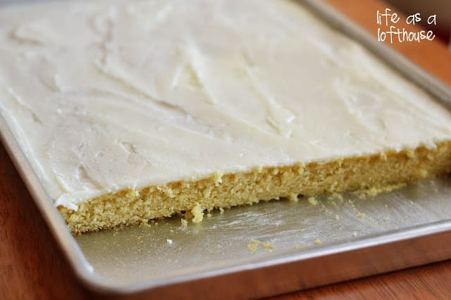 White Sheet Cake  Texas Sheet Cake