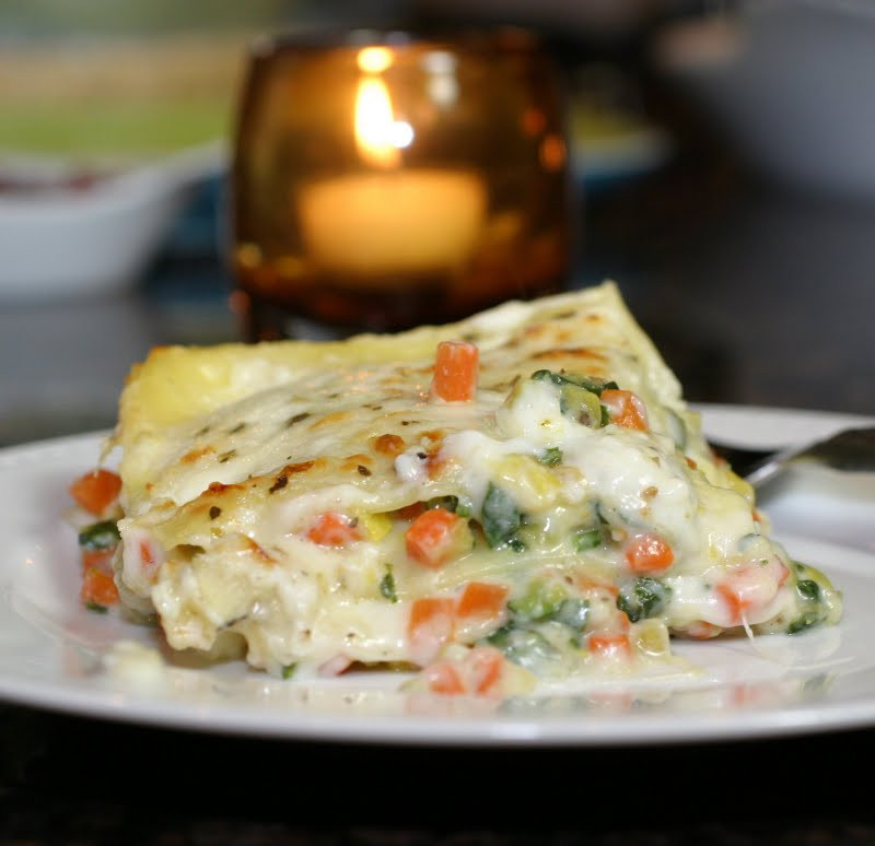 White Vegetable Lasagna  The Italian Dish Posts Roasted Ve able Lasagna