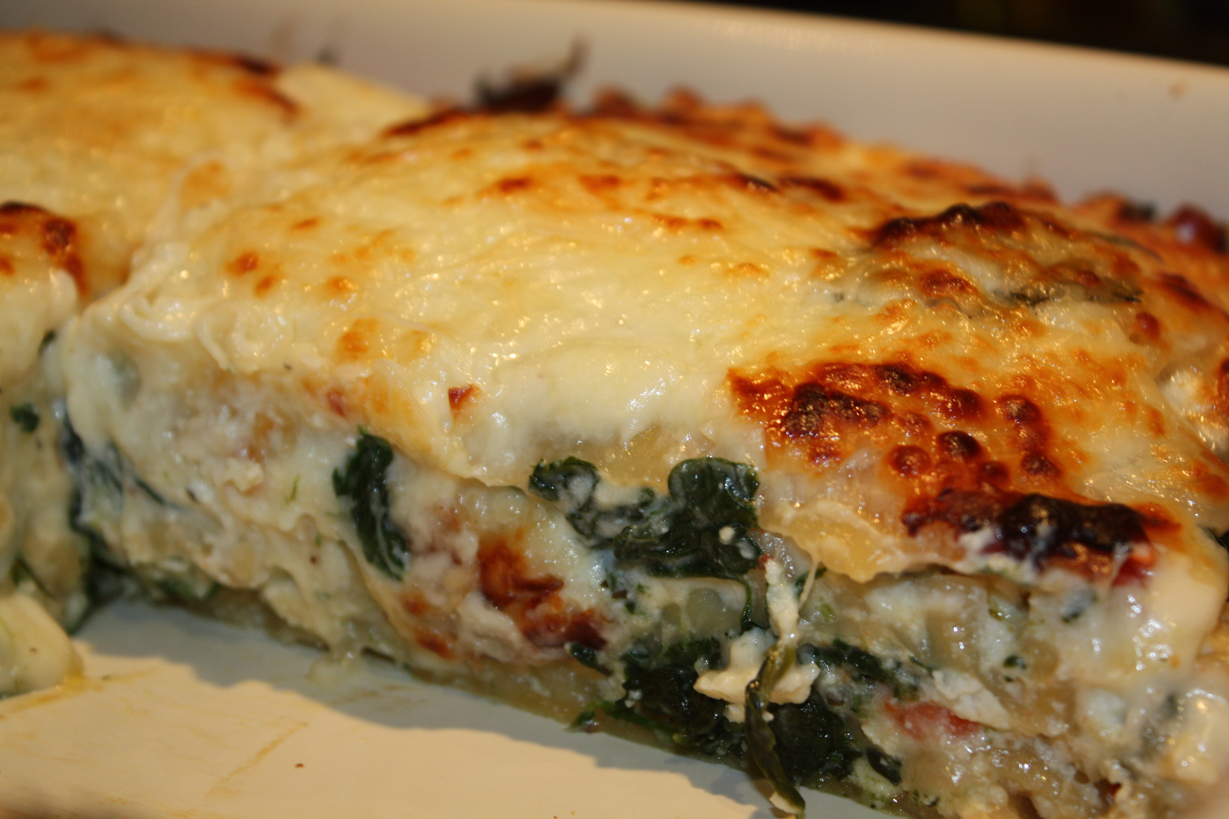White Vegetable Lasagna  Ve able Lasagna
