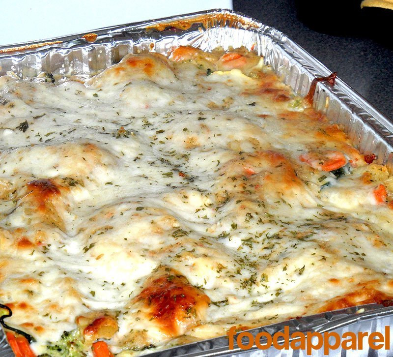 White Vegetable Lasagna  Healthier Ve able Lasagna with White Sauce Recipe