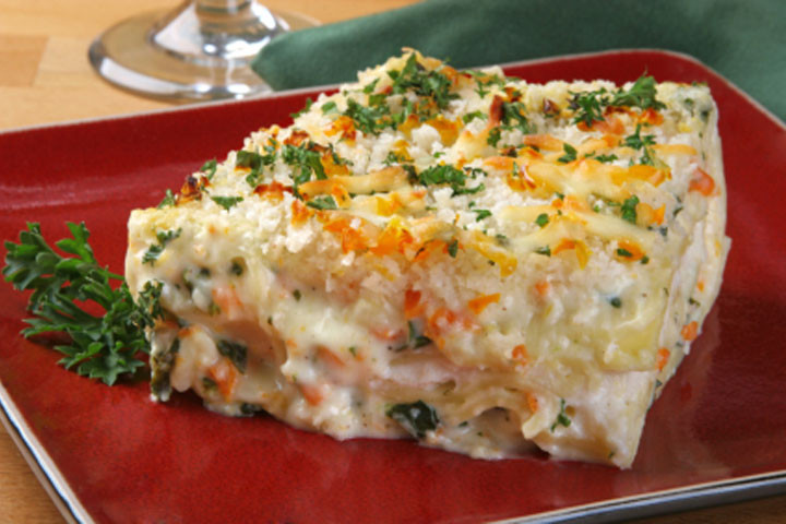 White Vegetable Lasagna  Ve able Lasagna Recipes CDKitchen