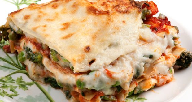 White Vegetable Lasagna  ve arian lasagna white sauce