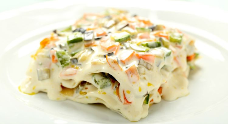White Vegetable Lasagna  Get Crocked – Slow Cooker Veggie Lasagna with Alfredo
