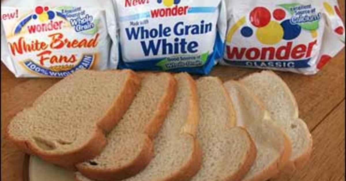 White Whole Wheat Bread  Wonder Bread To fer Whole Wheat CBS News