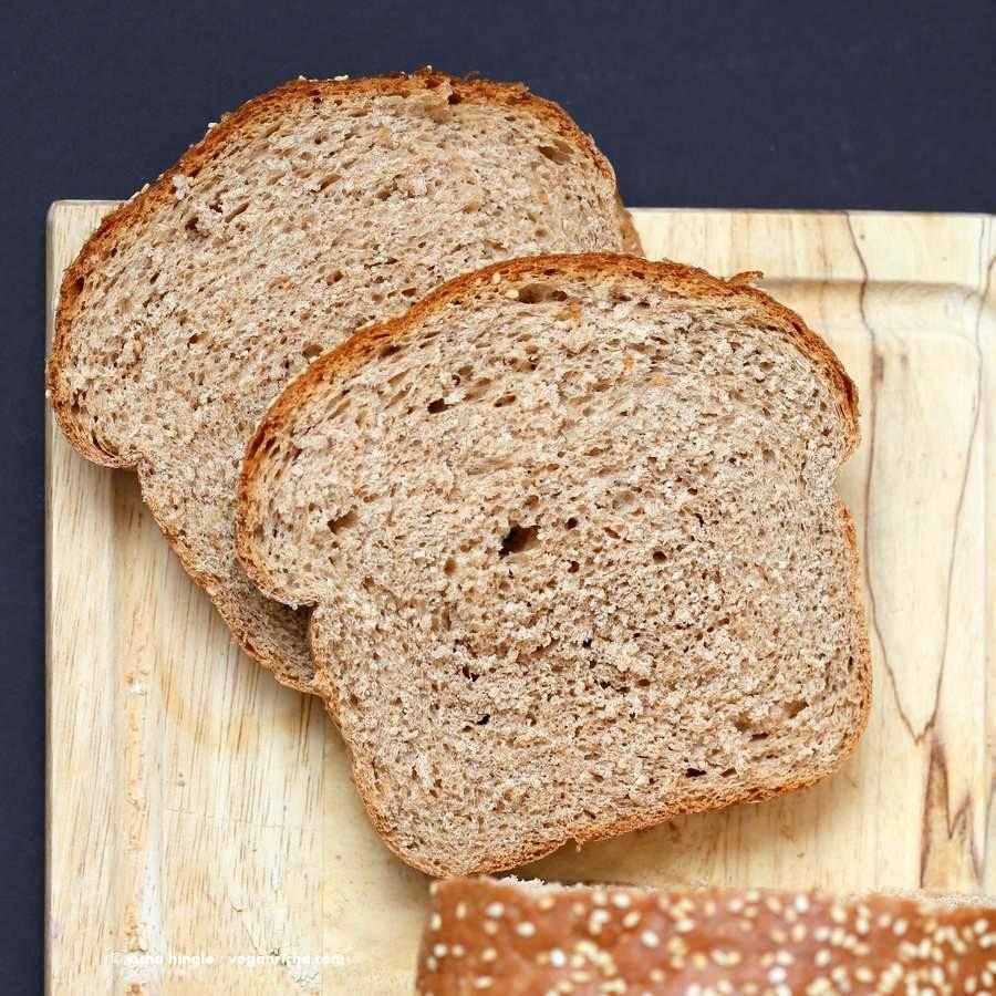 White Whole Wheat Bread  Whole Wheat Bread Recipe Vegan Richa
