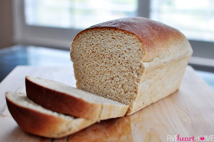White Whole Wheat Bread  The Very Best Homemade Whole Wheat Bread