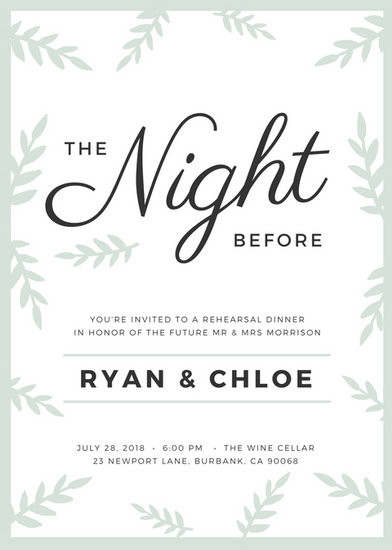 Who Is Invited To The Rehearsal Dinner  Customize 411 Rehearsal Dinner Invitation templates