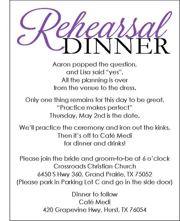Who Is Invited To The Rehearsal Dinner  Rehearsal Dinner invite with template available