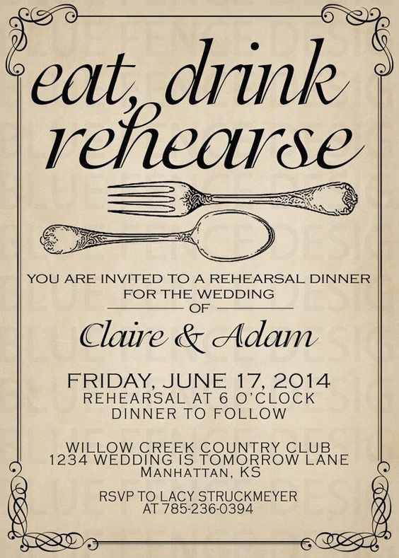 Who Is Invited To The Rehearsal Dinner  Dinner Dinner invitations and Wedding on Pinterest