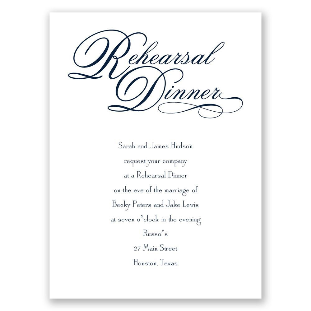 Who Is Invited To The Rehearsal Dinner  Rehearsal Dinner Petite Invitation