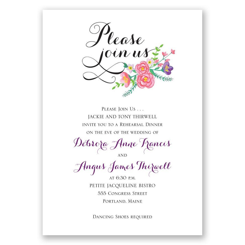 Who Is Invited To The Rehearsal Dinner  Floral Typography Rehearsal Dinner Invitation