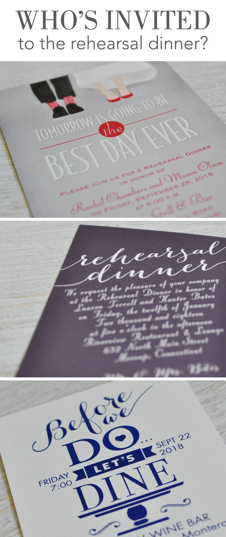 Who Is Invited To The Rehearsal Dinner  Who's invited to the rehearsal dinner