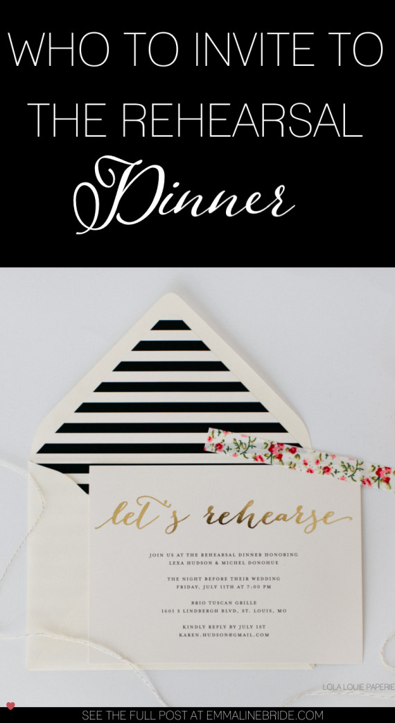 Who Is Invited To The Rehearsal Dinner  Who to Invite to the Rehearsal Dinner and Why