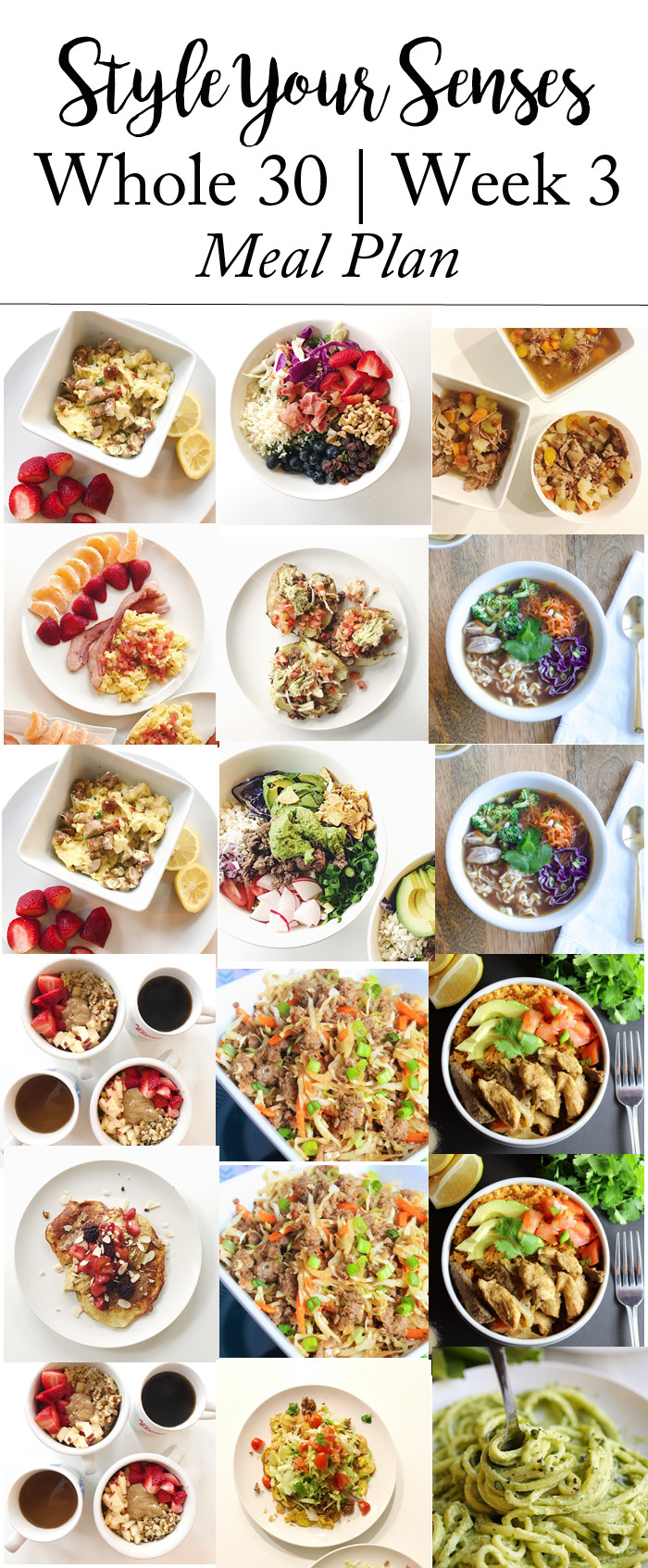 Whole 30 Dinner  Whole30 Week 2 Update Week 3 Meal Plan