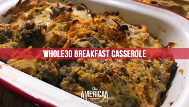 Whole 30 Recipes Breakfast  Paleo Breakfast Casserole Whole30 Recipe