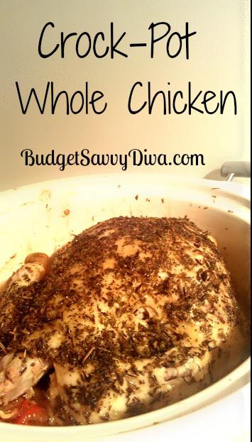 Whole Chicken Crock Pot Recipe  Crock Pot Whole Chicken Recipe