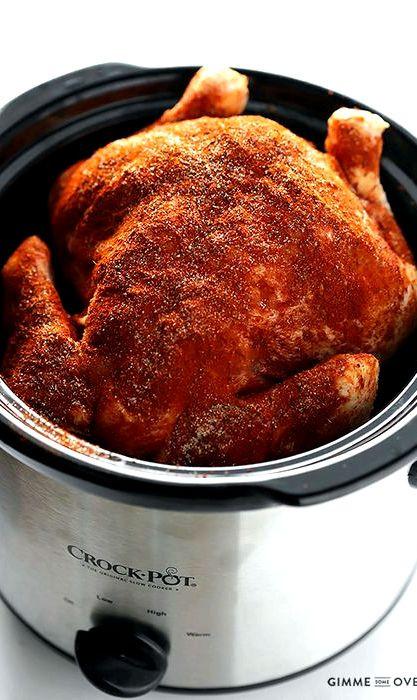 Whole Chicken Crock Pot Recipe  Crock pot chicken recipe whole chicken