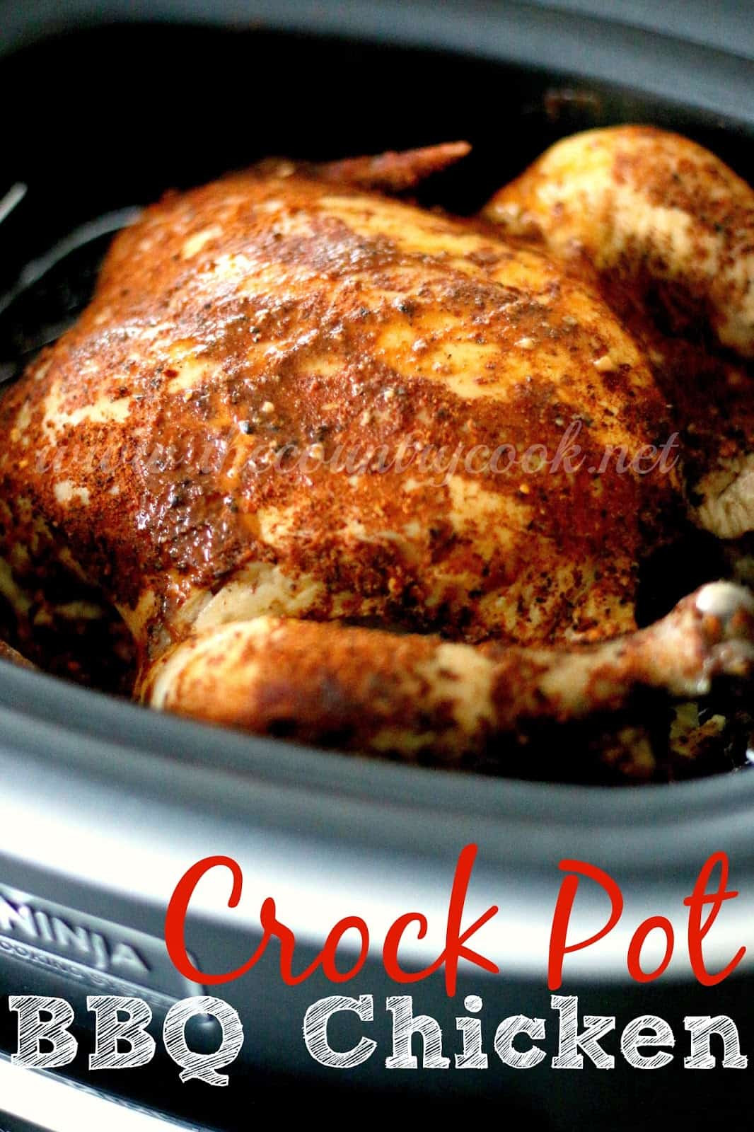 Whole Chicken In Crockpot  Crock Pot Whole BBQ Chicken The Country Cook