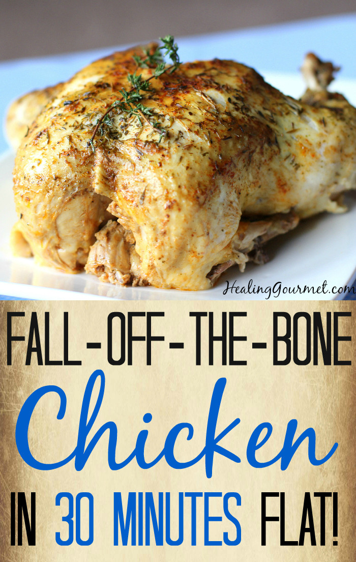 Whole Chicken In Pressure Cooker  Fall f The Bone Pressure Cooker Chicken in 30 Minutes