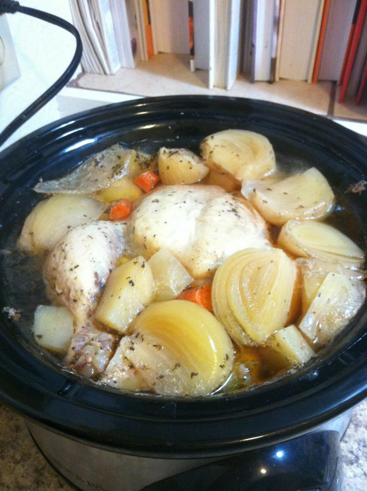 Whole Chicken In The Crock Pot  Our Little Clan Recipe Crock Pot Whole Chicken
