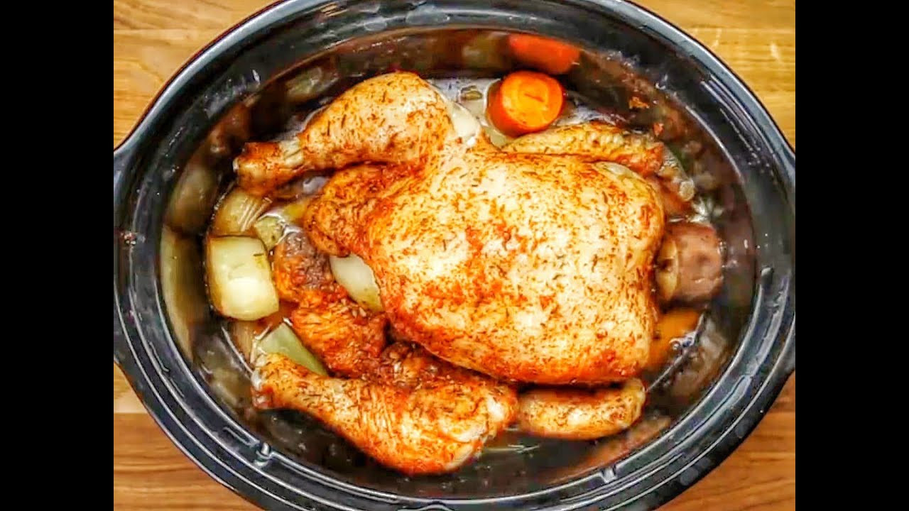 Whole Chicken Recipes Slow Cooker  slow cooker whole chicken frozen