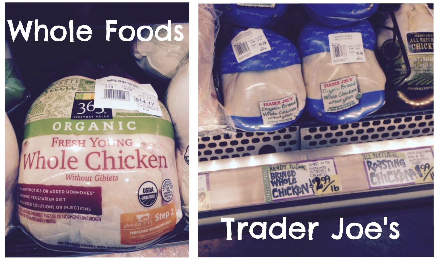 Whole Foods Chicken  Whole Foods Vs Trader Joe's Food Price parison – All
