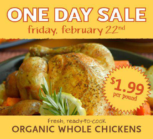 Whole Foods Chicken  Whole Foods Organic Whole Chicken $1 99 lb 2 22 ly