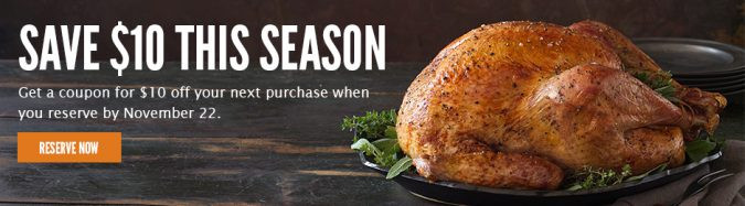 Whole Foods Thanksgiving Turkey  Thanksgiving 2016 Takeout Deals