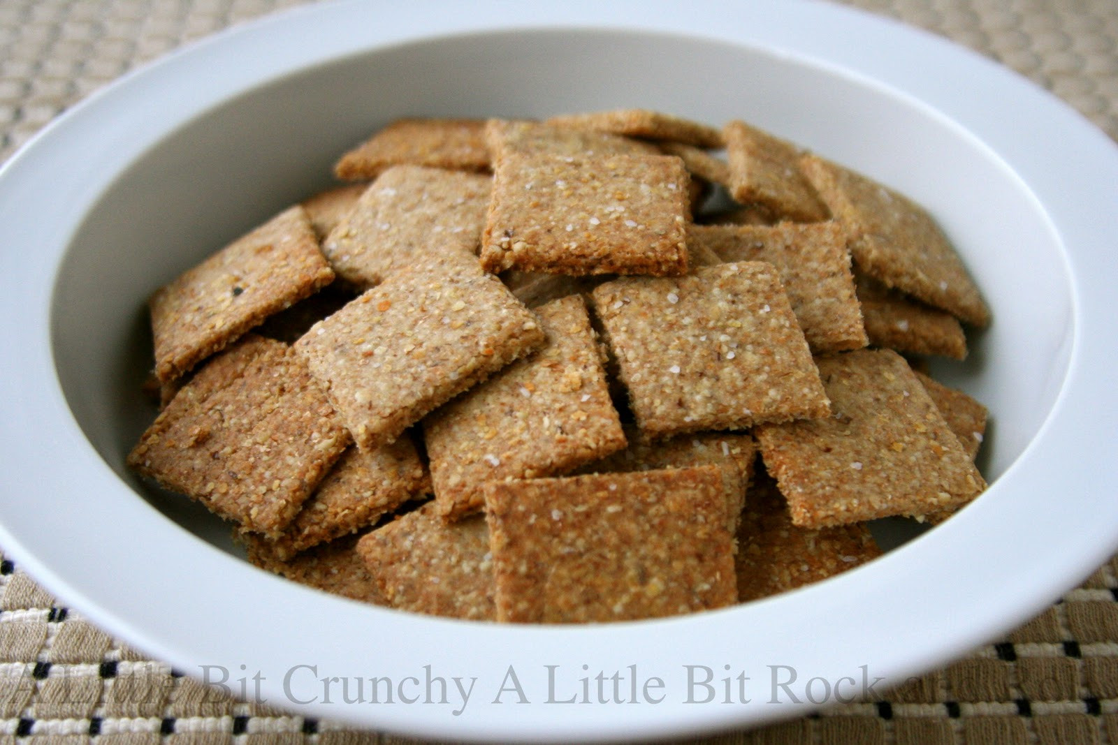 Whole Grain Crackers  A Little Bit Crunchy A Little Bit Rock and Roll Homemade
