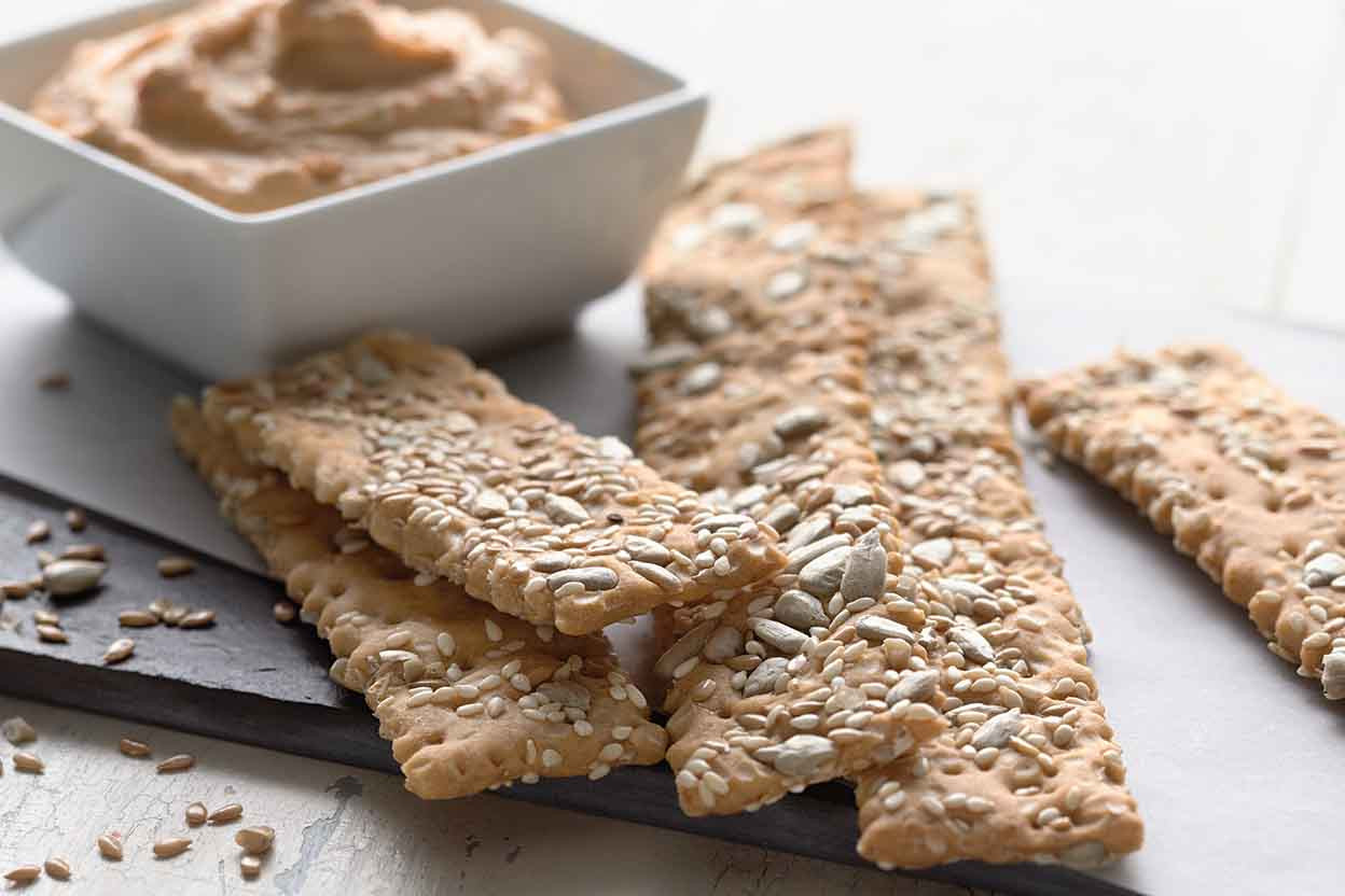 Whole Grain Crackers  Crunchy Crackers Recipe