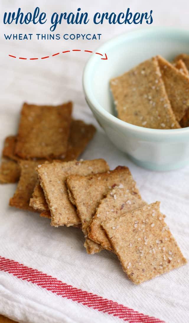 Whole Grain Crackers  Whole Grain Vegan Cracker Recipe tastes like wheat