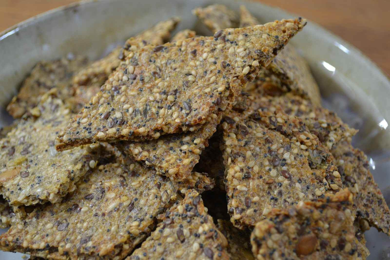 Whole Grain Crackers  Recipe for Dehydrated whole grain crackers