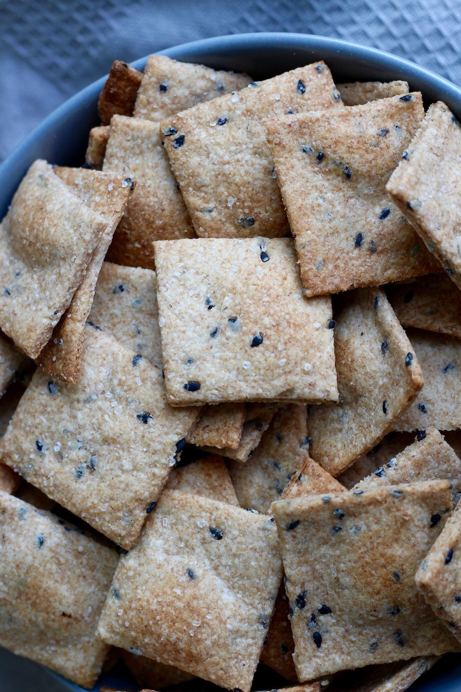 Whole Grain Crackers  Homemade Whole Grain Sesame Crackers