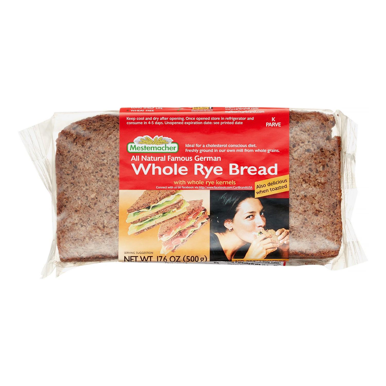 Whole Grain Rye Bread  Mestemacher Whole Grain Rye Bread 17 6 oz