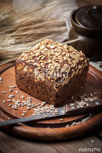 "Whole Grain Rye Bread  ""Whole Grain rye bread with seeds "" Stock photo and"