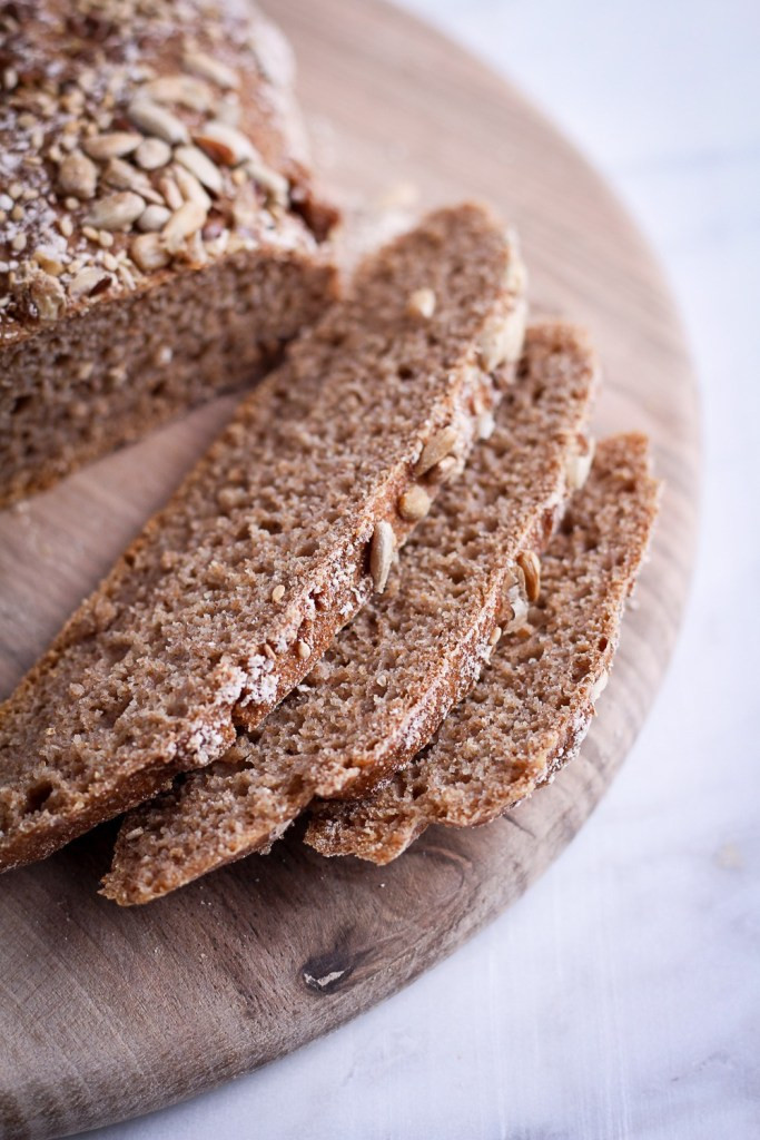 Whole Grain Rye Bread  Whole Grain Rye Bread and Le Creuset Giveaway